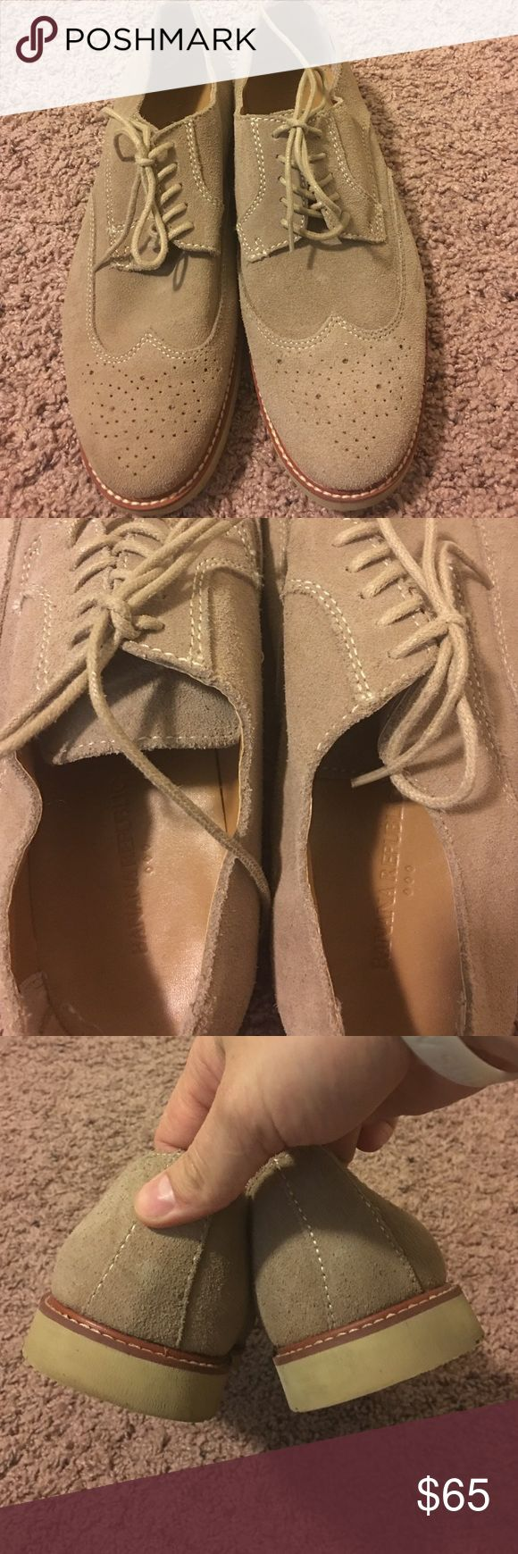 Banana Republic Wingtips. Great pair of Banana Republic Shoes. Worn a handful of times. No wear to soles at all. Banana Republic Shoes Oxfords & Derbys