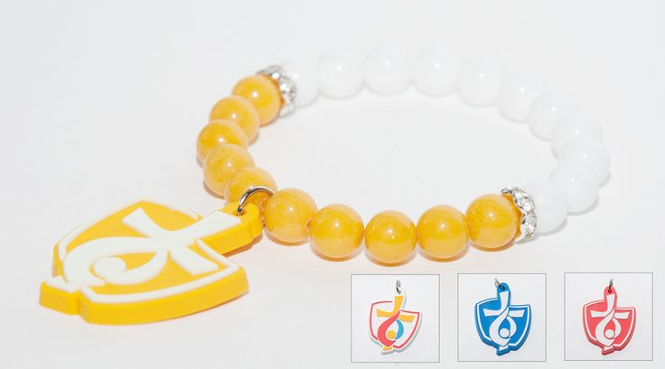 We want to present you brilliant bracelet for World Youth Day 2016 in Cracow. Made from high quality 8mm beads in white and yellow colors with oryginal World Youth Day logo charm made of rubber. 4 different colors available.