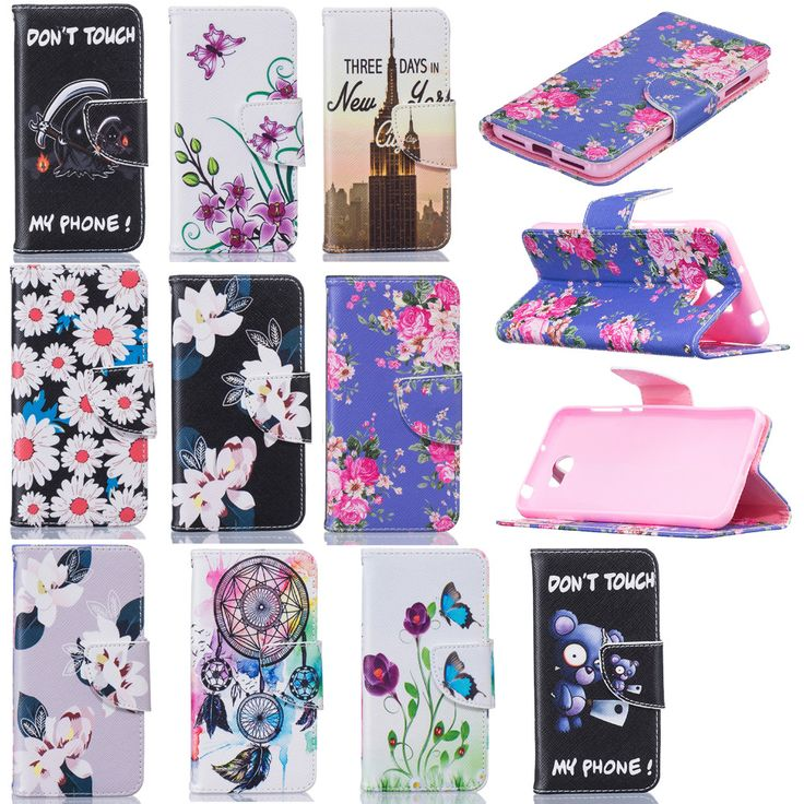 Brand Cute Painted Covers For HUAWEI Y 5 II Y5II Book Flip PU Leather Cases For HUAWEI Y5 II Y5 2 Card Slots Wallet Full Protect