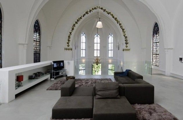 Old church remodeled into home: Living Rooms, Residential Church, Dreams, Convertible Church, Old Church, Interiors Design, House, Netherlands, Zecc Architects