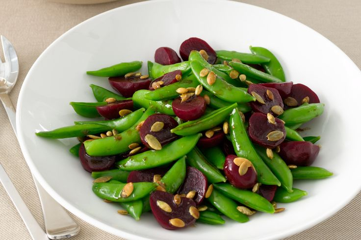 Pumpkin seeds add a nutritious crunch to this simple salad.