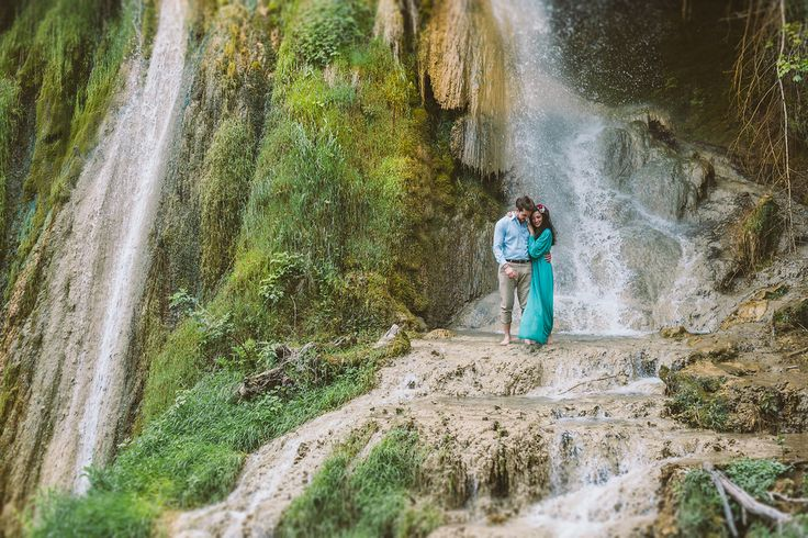 Waterfall engagement — Wedding Faeries Photography