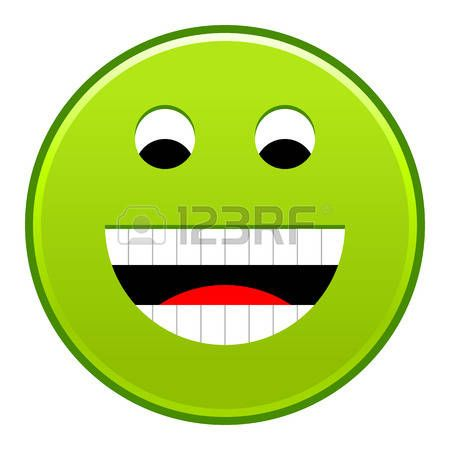 Green smiling face cheerful smiley happy emoticon. Quick and easy recolorable shape isolated from background. Vector illustration a graphic element for web internet design Stock Vector - 85722827