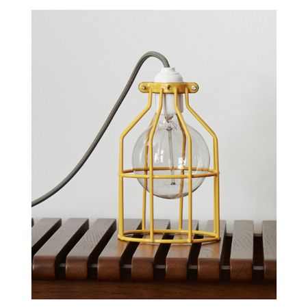 Yellow Cage Pendant Light