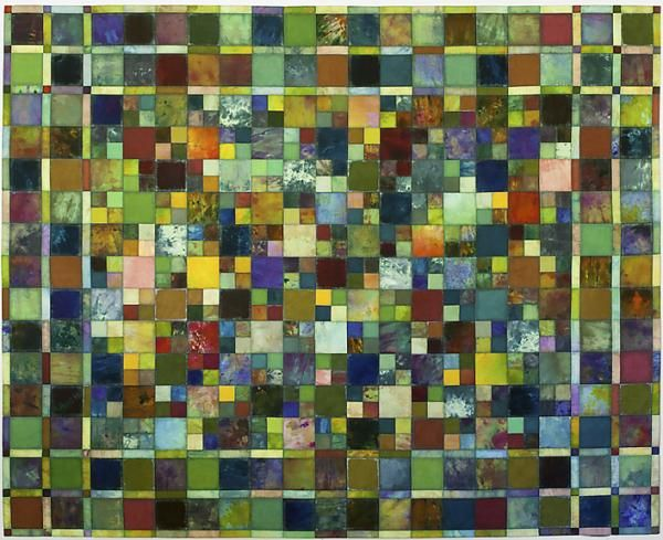 Tileworks IV by Mary Kay Price quilt art at the Mid-Atlantic Quilt Festival