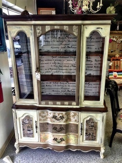 Beautiful china cabinet from Out of the Grey Creatures and sold at University Pickers in Huntsville, AL