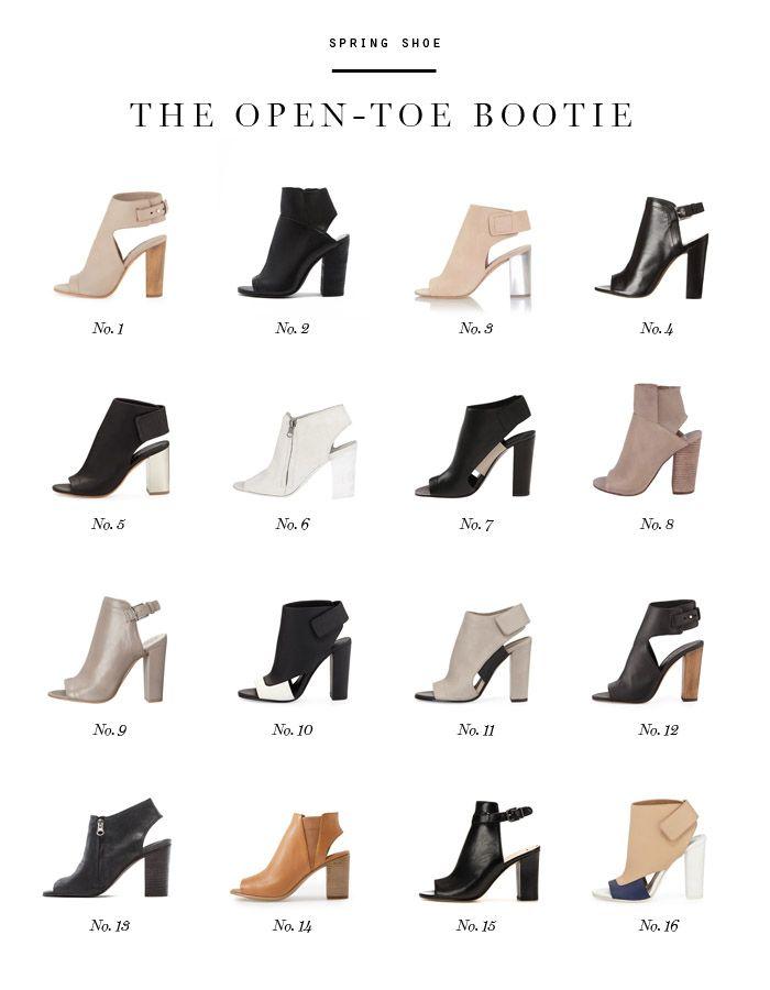 SPRING SHOE Open-Toe Booties