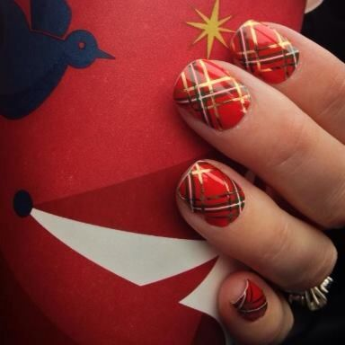 Jamberry Tinsel Town - Jamberry Nail Wraps are Buy 3, Get 1 FREE! Click here to order -> www.nicoleknaus.jamberrynails.net  Christmas, Winter, Christmas Nails, Christmas Nail Art