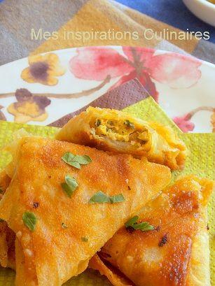 Des briouates au poulet ( بريوات-الدجاج) épicées pour accompagner la chorba ou harira du mois de R...