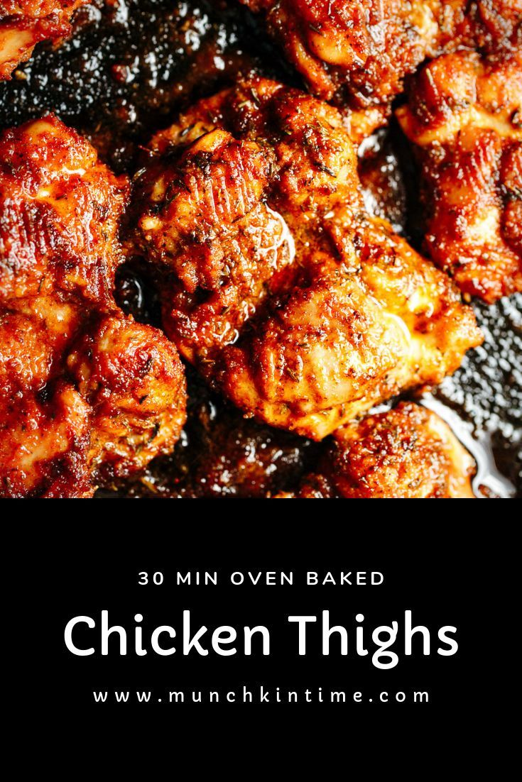 Mouthwatering And Super Juicy 30 Min Oven Baked Boneless Skinless Chic Boneless Chicken Thigh Recipes Skinless Chicken Recipe Boneless Skinless Chicken Recipes