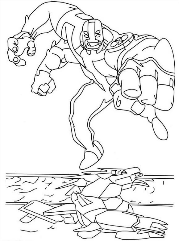 Four Arms Ben 10 Coloring Pages Coloring Pages Cartoon Coloring Pages Fruit Coloring Pages