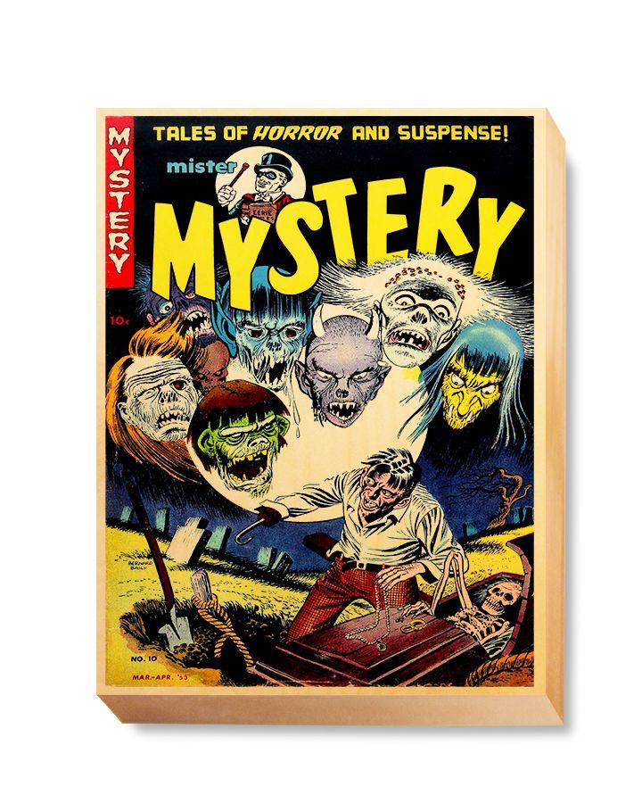 HOR 017 Horror Comic Cover - Mystery Graveyard