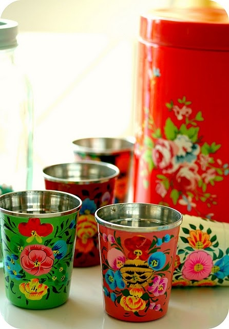 I own these cheery cups and use them for make up brushes, toothpaste and toothbrush...pretties up my bathroom.