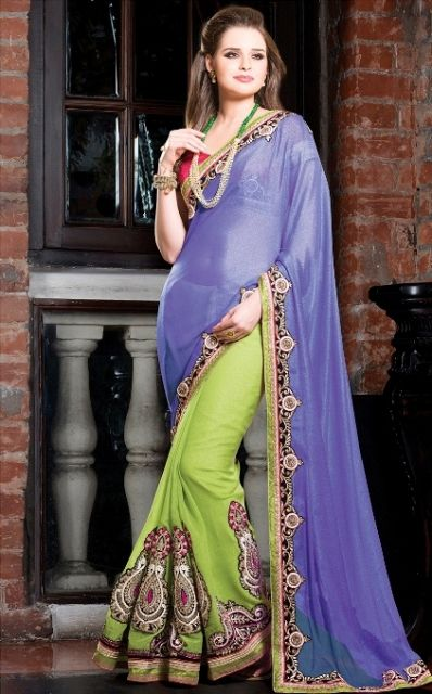 Exclusive Summer Party Wear Sarree Designs Dresses 2015-16 For Ladies