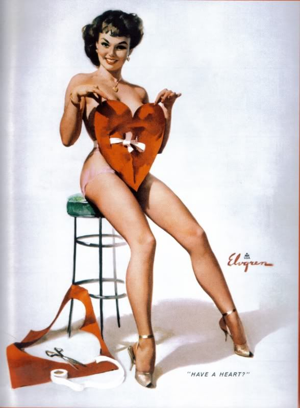 'Have A Heart' Pinup art by Gil ElvgrenValentine'S Day, Gilelvgren, Valentine Day, Vintage, Pinupart, Pinup Girls, Pinup Art, Gil Elvgren, Pin Up Girls