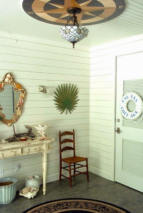 Warm Coastal Home with a Tropical Nautical Theme: http://www.completely-coastal.com/2015/01/coastal-nautical-tropical-home-decor-house-tour.html