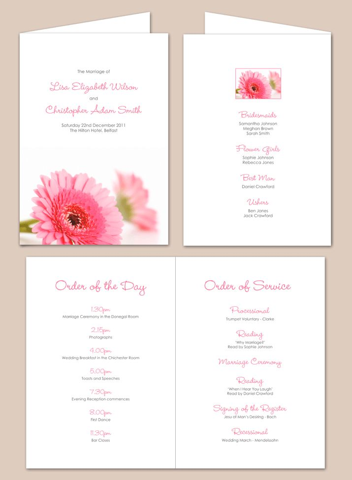 17 Best ideas about Order Of Service Template on Pinterest ...