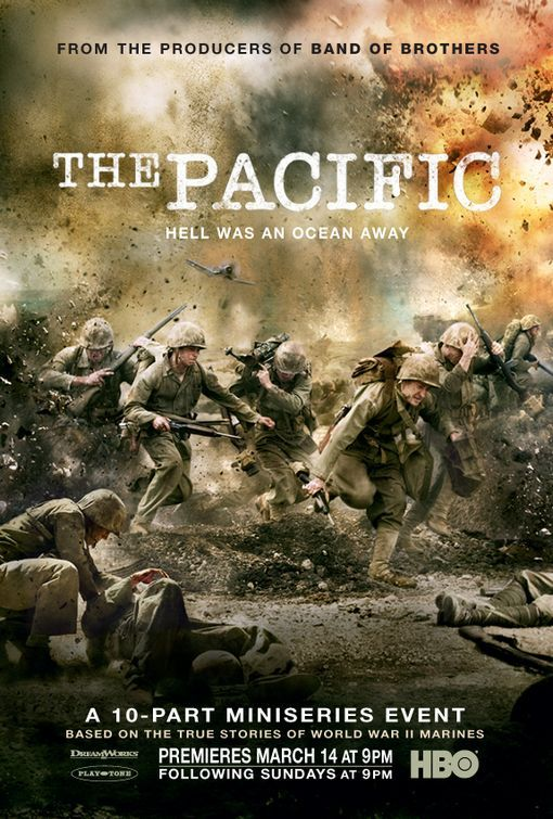 This 10-part miniseries event tells the true stories about the US 1st Marine Division's battles in the Pacific, such as Guadalcanal, Cape Gloucester, Peleliu, and Okinawa, as well as John Basilone's involvement in the Battle of Iwo Jima.