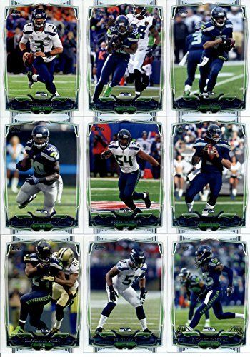 2014 Topps Football Cards Seattle Seahawks Team Set (17 Cards): Russell Wilson Sidney Rice Percy Harvin Derrick Coleman Team Card Bobby…