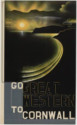 Gorgeous vintage poster!  E. McKnight Kauffer / Great Western To Cornwall / 1932 / MoMa