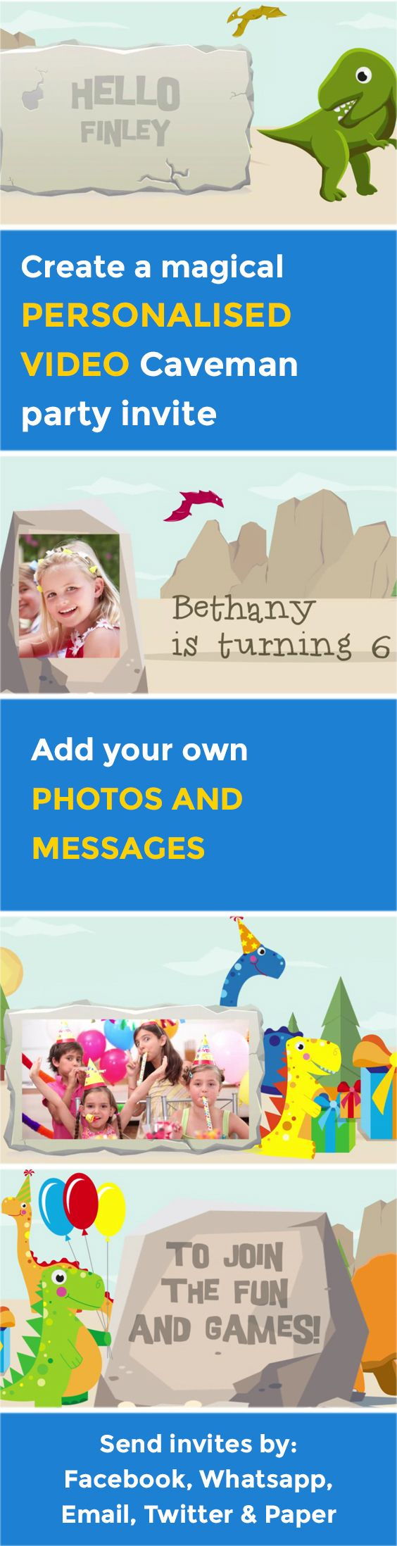 91 best Personalised Party Video Invitations images on Pinterest ...