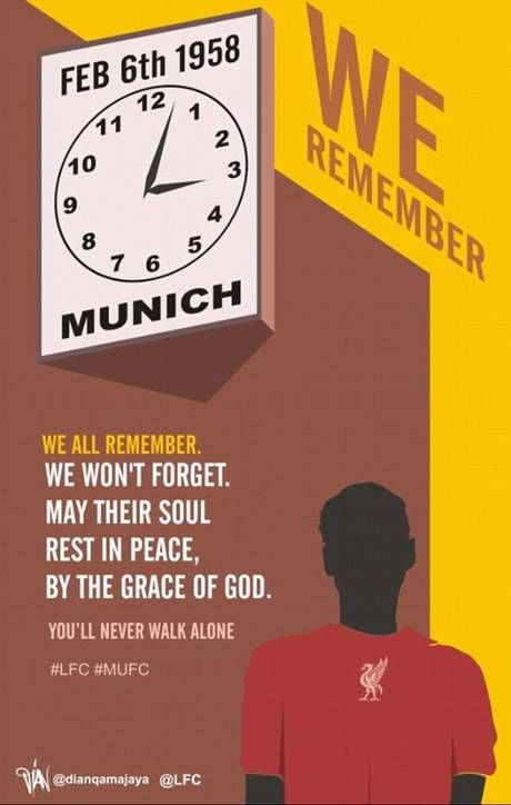 Liverpool pay tribute to the Munich air disaster victims on 55th anniversary of tragedy that took the lives of eight Manchester United players. #LFC