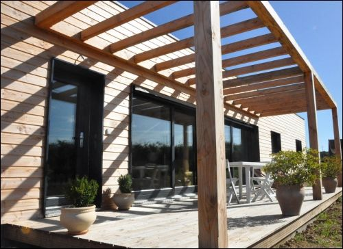Une Maison Bois Passive En Bourgogne Pergolas Architecture And Patios