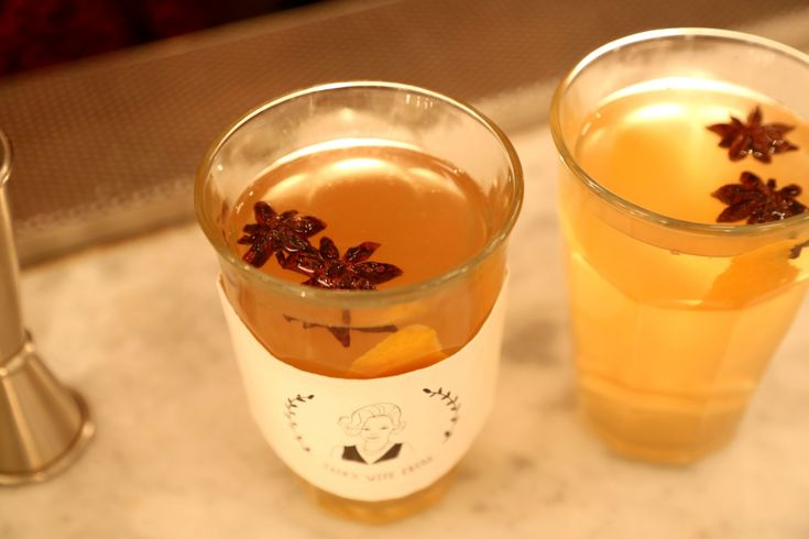 The winter just demands hot toddies, and this one's both cozy AND beautiful // Bourbon + honey + lemon juice + star anise + orange peel + slices of fresh ginger + hot water