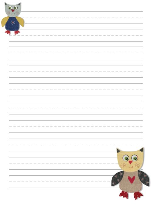 """Your little one is sure to think, """"Owl have a lot of fun with this!"""" when they see this handwriting paper! #handwritingpractice #freehandwritingpractice #handwritingpaper #freehandwritingpaper #writingpromptsforkids"""