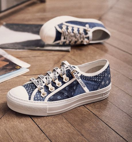 030b34384e61 sneaker walk n dior en patchwork denim