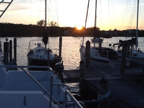 Life on the boat in Oriental North Carolina!