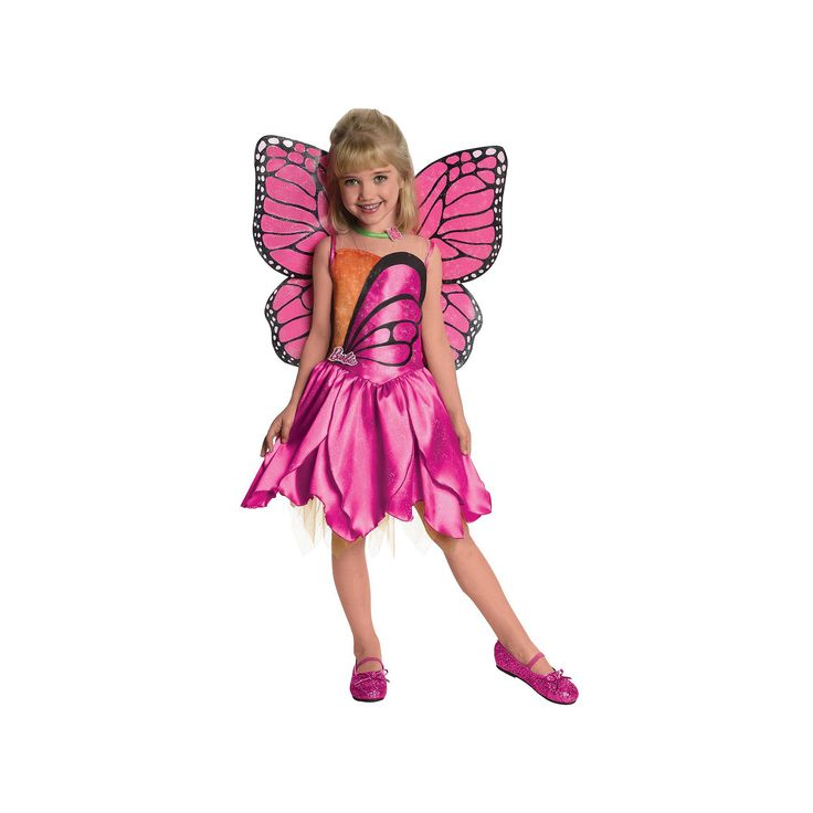 Barbie Deluxe Mariposa Costume - Toddler/Kids, Girl's, Size: Medium, Multicolor