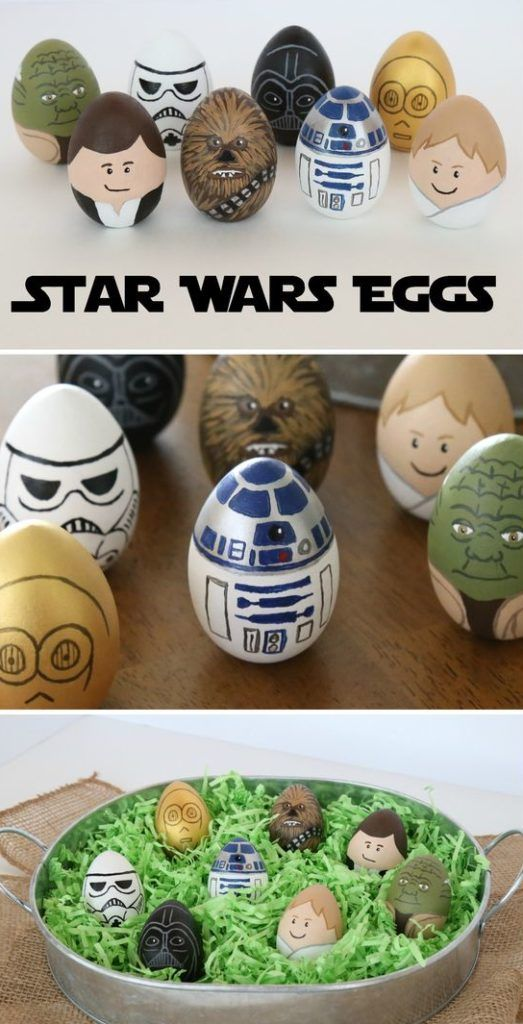 star wars Easter eggs to color