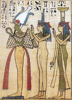 Osiris, Isis & Nephthys. Together Isis and Nephthys could be said to represent day and night, life and death, growth and decay. In Heliopolis, Isis and Nephthys were represented by two virginal priestesses who shaved off all of their body hair and were ritually pure.