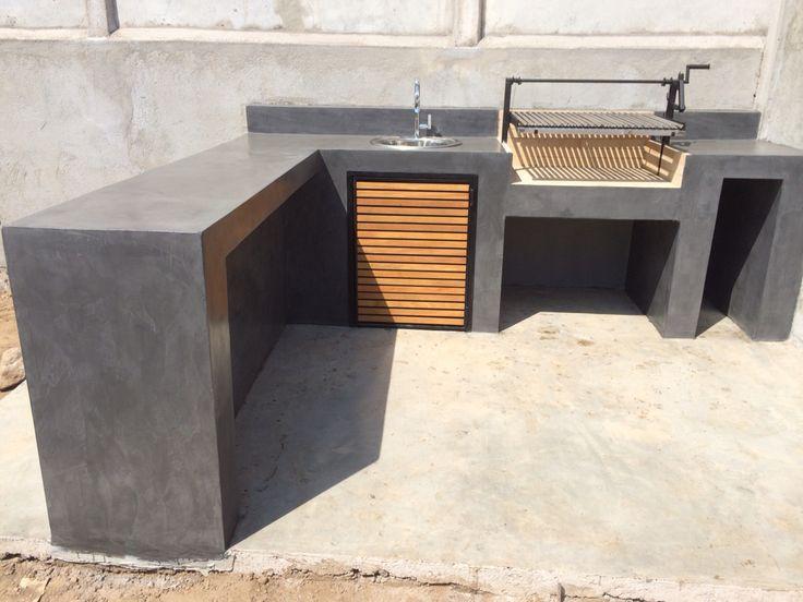 Quincho hormigon piscinas pinterest barbecues and patios for Jardines modernos minimalistas
