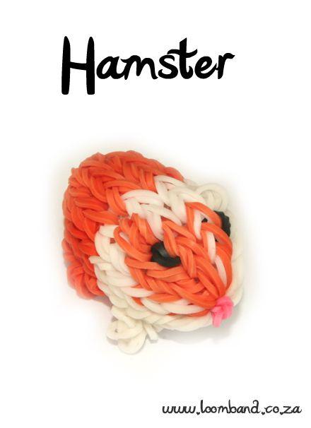 Guinea Pig / Hamster Loom Band Charm tutorial, http://loomband.co.za/guinea-pig-hamster-loom-band-charm-tutorial/