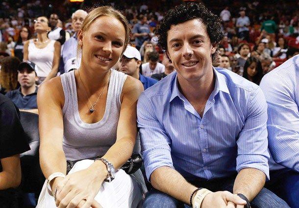 PGA's Rory McIlroy and fiancé Caroline Wozniacki.
