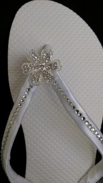 """Tahiti"" Bridal Flip Flops"
