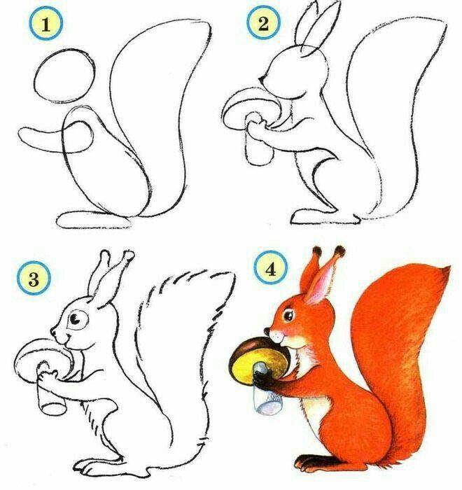 Pin Von Rolprikol Auf Animaciya Cartoon Eichhornchen Zeichnen Tierzeichnung Tiere Malen