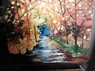 My first go at palette knife painting- sold it too.  First painting I've ever sold.