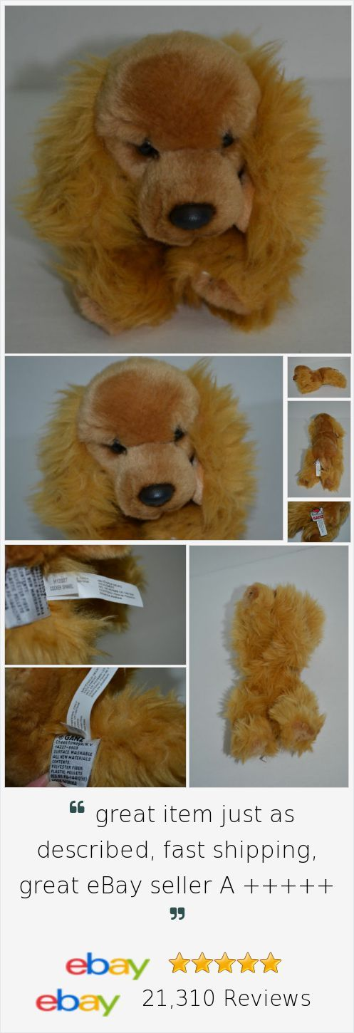 "Ganz Cocker Spaniel Plush Puppy Dog Brown Bean Bag Stuffed Animal 9"" http://stores.ebay.com/Lost-Loves-Toy-Chest"