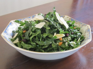 Shredded Kale Salad With Pine Nuts, Currants, And Parmesan ...