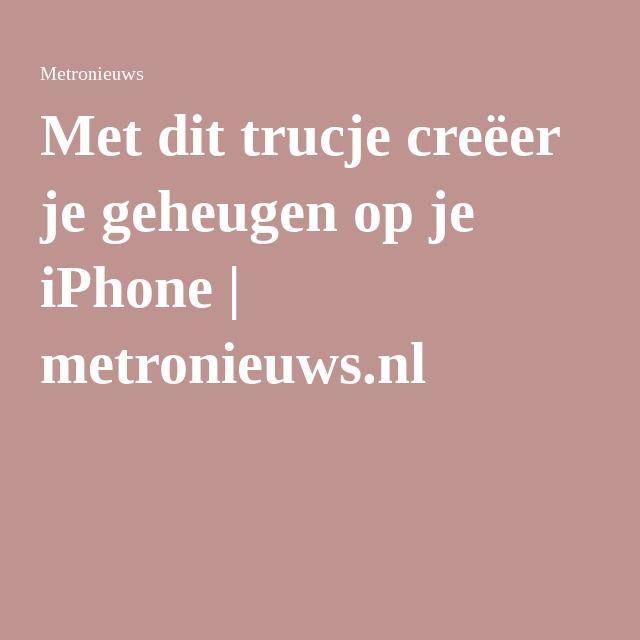 Met dit trucje creëer je geheugen op je iPhone | metronieuws.nl