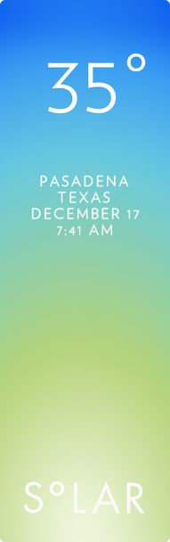 Pasadena weather has never been cooler. Solar for iOS.