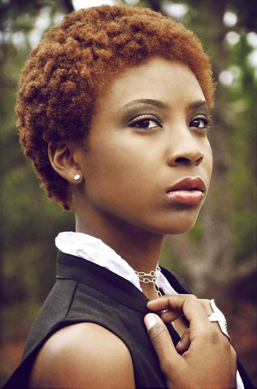 Love the color of her #TWA #naturalhairstyle  Loved By NenoNatural!