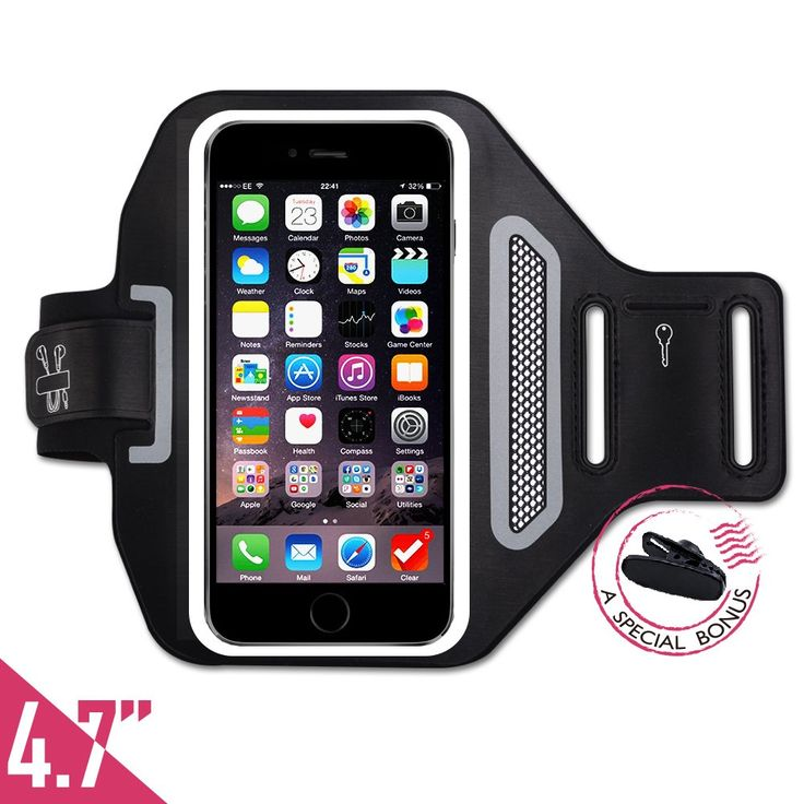 iPhone 6s/6 armband, [Touch Compatible] Tripky Sports Armband for iPhone 6s/6/5s,Galaxy S3/S4(4.1~4.7inch) for Running, Jogging, Hiking and Workout with [ID/Card/Cash Holder] [Sweat Proof] (Black)
