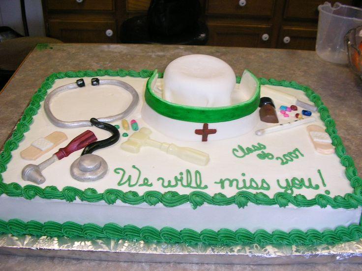 Pin Nurse Retirement Cake
