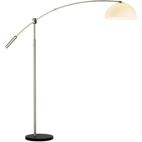 Adesso 4134-22 Outreach Satin Steel Arc Floor Lamp - Floor Lamps at Hayneedle