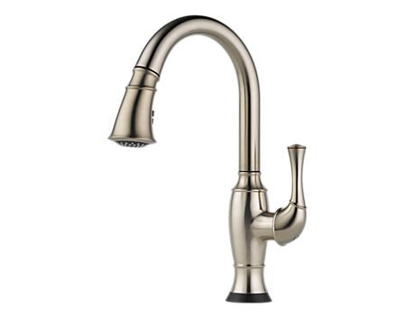 Single Handle Pull Down Kitchen Faucet With Smarttouch 174 Technology 64003lf Ss Talo Kitchen