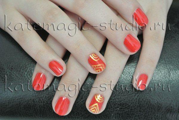 Маникюр, нейл-арт, шеллак, нейл-дизайн, nail-art, nail-design,  shellac, рисунок на ногтях Студия KateMagic
